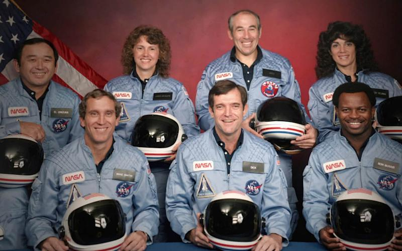 The seven astronauts who died in the explosion of the Challenger space shuttle explosion, in January 1986 - NASA/Netflix