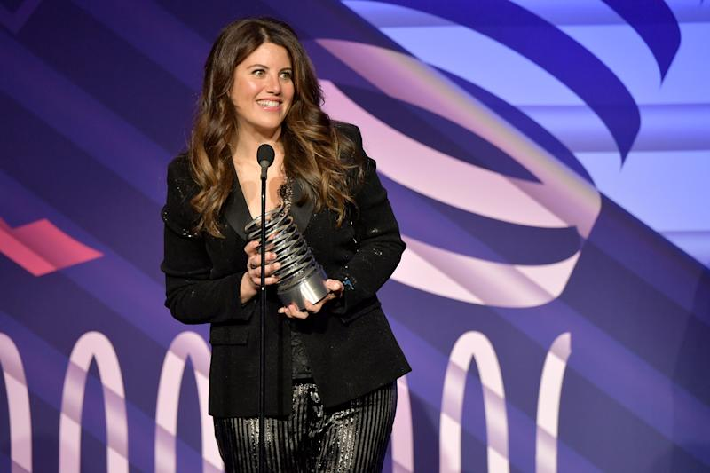 NEW YORK, NEW YORK - MAY 13: Monica Lewinsky speaks on stage at The 23rd Annual Webby Awards on May 13, 2019 in New York City. (Photo by Michael Loccisano/Getty Images for Webby Awards)