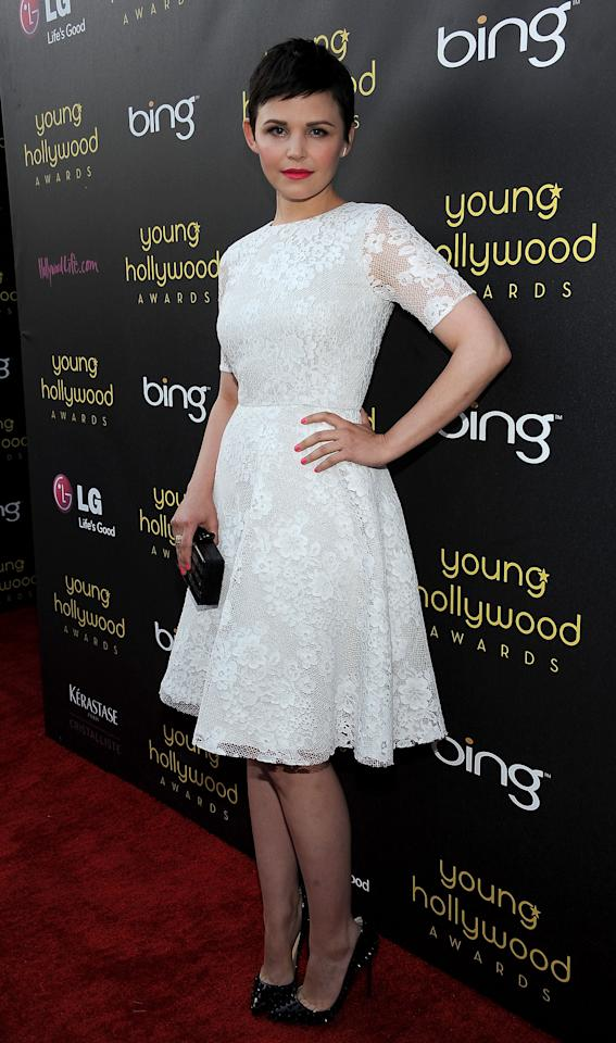 HOLLYWOOD, CA - JUNE 14:  Actress Ginnifer Goodwin arrives at the Young Hollywood Awards at Hollywood Athletic Club on June 14, 2012 in Hollywood, California.  (Photo by Valerie Macon/Getty Images)