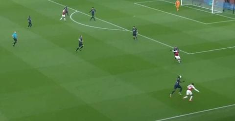 <span>The move that led to Arsenal's opening goal against Man Utd&nbsp;</span> <span>Credit: Sky Sports </span>