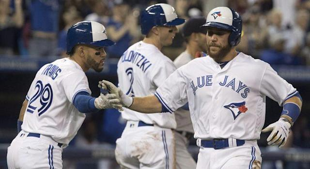The Toronto Blue Jays weren't undeserving of a win on Wednesday – but they certainly got quite the dash of luck. (Fred Thornhill/CP)