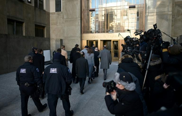 Media cover Weinstein's arrival in court (AFP Photo/Johannes EISELE)