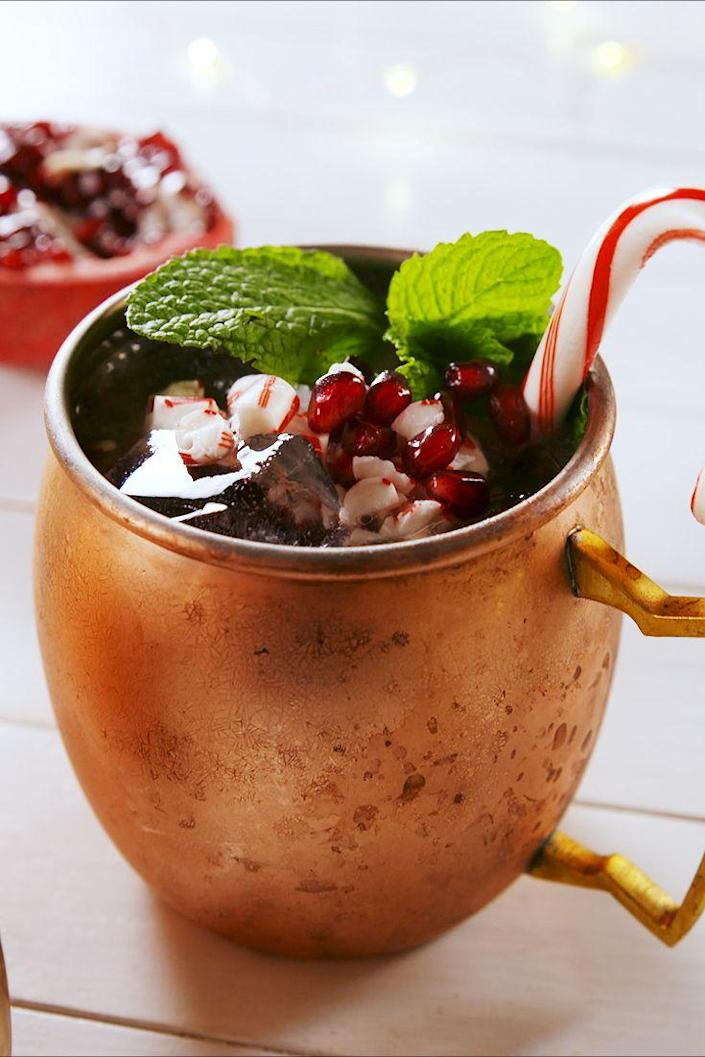 """<p>You need one of these in your hand allll Christmas day. </p><p>Get the recipe from <a href=""""https://www.delish.com/cooking/recipe-ideas/a25608152/mistletoe-mules-recipe/"""" rel=""""nofollow noopener"""" target=""""_blank"""" data-ylk=""""slk:Delish"""" class=""""link rapid-noclick-resp"""">Delish</a>. </p>"""