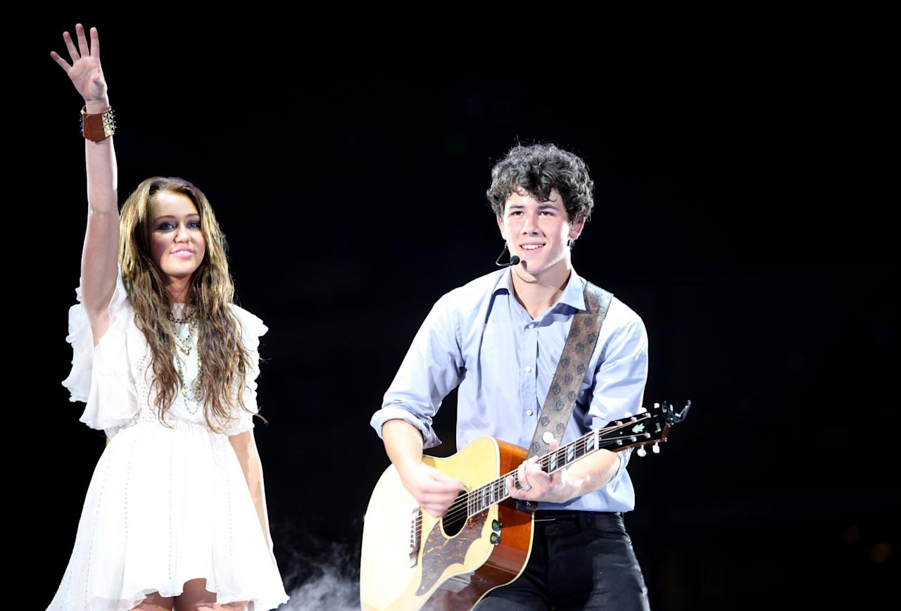 <p>During their two-year relationship from 2004 until 2006, Nick and Miley were one of the biggest Disney Channel couples while traveling during the singer's Best of Both Worlds Tour. There were rumors that they reconciled in 2009 when they were spotted on jet skis together in Georgia, but Miley eventually began dating her <strong>The Last Song</strong> costar (and future husband) Liam Hemsworth.</p>