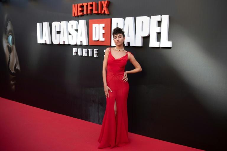 """The success of Netflix's """"Money Heist"""" (""""La Casa de Papel"""")starring Spanish actress Ursula Corbero (pictured) has helped drive a push by media companies to set up TV production centres in Madrid (AFP Photo/GABRIEL BOUYS)"""