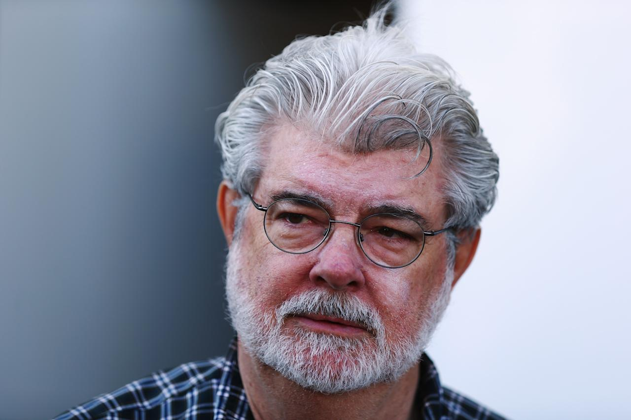 AUSTIN, TX - NOVEMBER 18:  Hollywood director George Lucas attends the United States Formula One Grand Prix at the Circuit of the Americas on November 18, 2012 in Austin, Texas.  (Photo by Clive Mason/Getty Images)