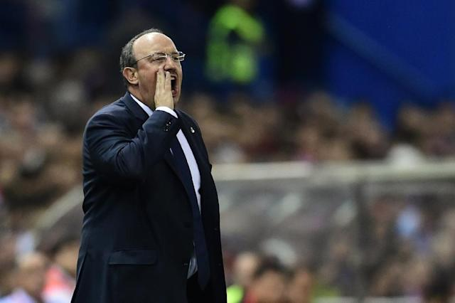 Rafael Benitez's unhappy reign came to an end after a 2-2 draw away to Valencia on January 3, 2016, left Real Madrid four points adrift of local rivals Atletico at the top of La Liga (AFP Photo/Javier Soriano)