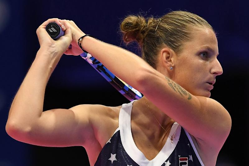 Karolina Pliskova needed just 63 minutes to defeat Naomi Osaka and win the Pan Pacific Open (AFP Photo/Toshifumi KITAMURA)