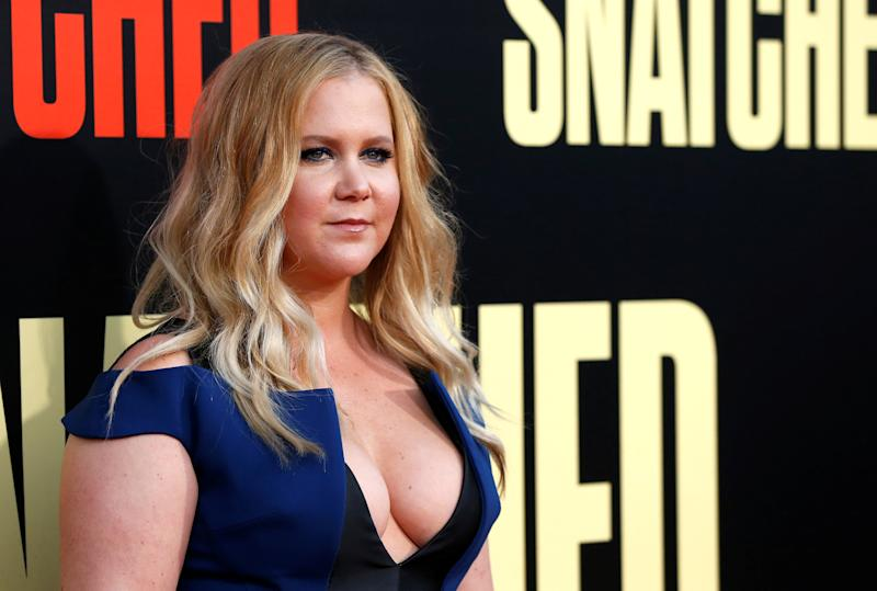 "Amy Schumer attends the premiere of her movie ""Snatched."""