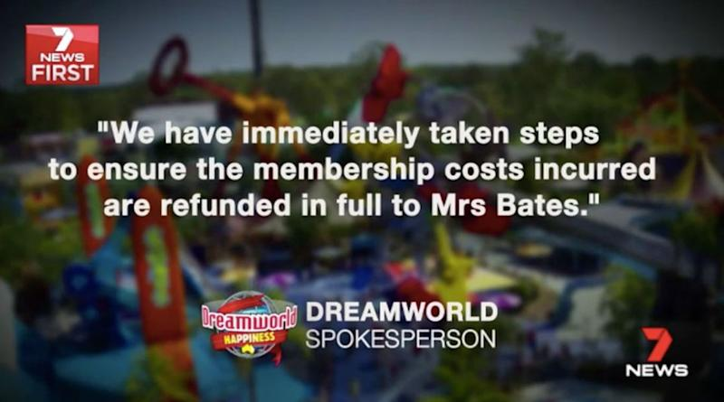 Dreamworld has released this statement. Source: 7 News