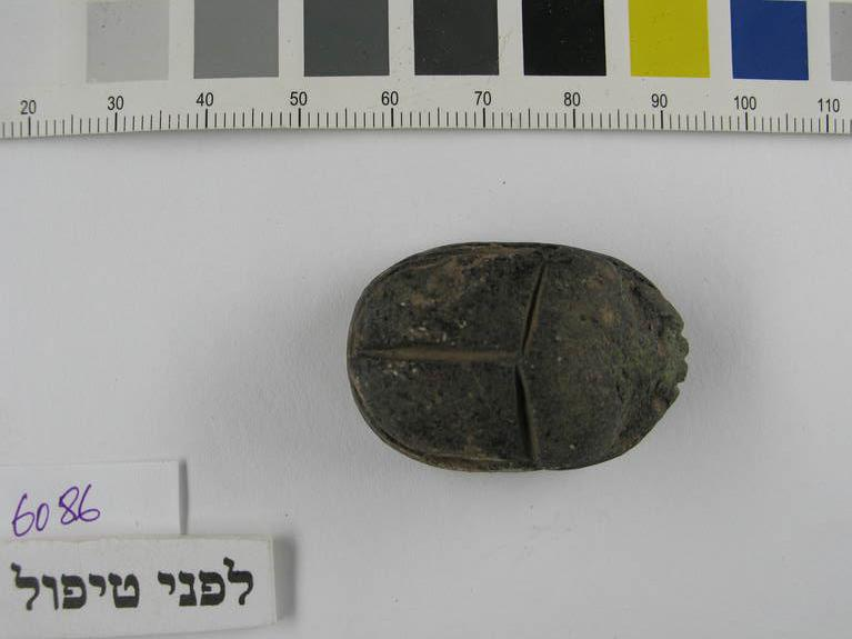 A scarab amulet from Amenhotep III was found in the ruins of Gezer.