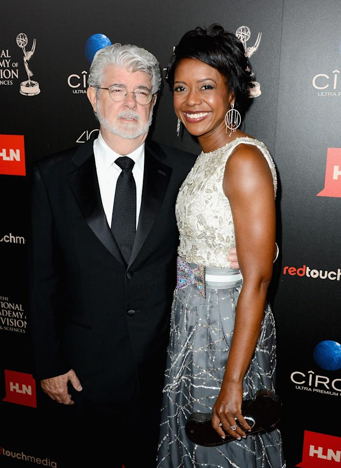 BEVERLY HILLS, CA - JUNE 16: Producer/director George Lucas and Mellody Hobson attend The 40th Annual Daytime Emmy Awards at The Beverly Hilton Hotel on June 16, 2013 in Beverly Hills, California. (Photo by Mark Davis/Getty Images)