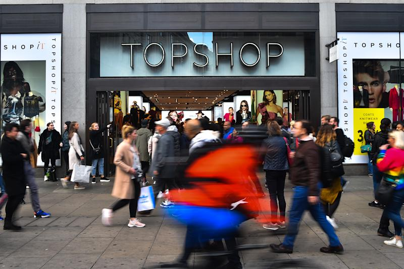 A Topshop store is pictured in Central London on October 26, 2018. Retail billionaire Sir Philip Green has been named in Parliament as the leading businessman accused by a newspaper of sexual and racial harrassment. (Photo by Alberto Pezzali/NurPhoto via Getty Images)