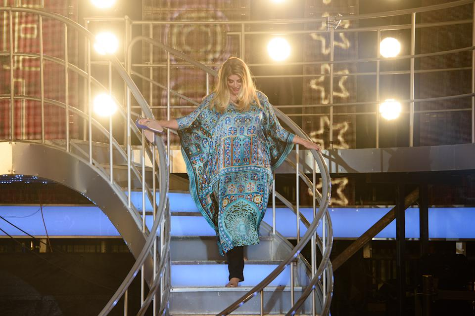 Kirstie Alley during the final of Celebrity Big Brother 2018, at Elstree Studios in Hertfordshire. Picture date: Monday September 10th, 2018. Photo credit should read: Matt Crossick/ EMPICS Entertainment.