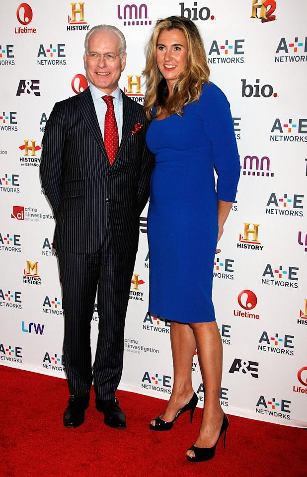 NEW YORK, NY - MAY 08:  Tim Gunn and Nancy Dubuc attend A&E Networks 2013 Upfront at Lincoln Center on May 8, 2013 in New York City.  (Photo by Laura Cavanaugh/Getty Images)