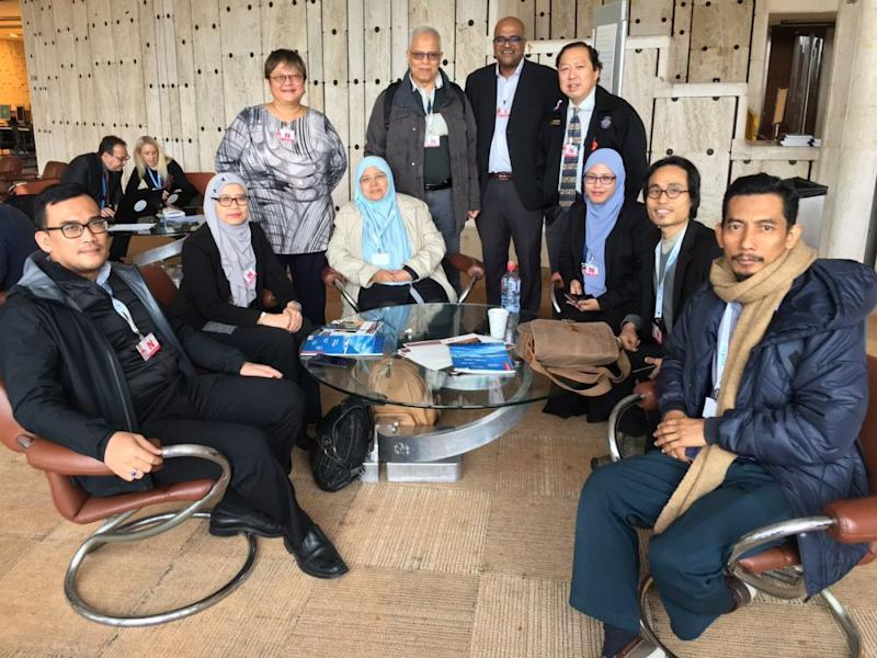 Malaysian representatives from Comango and Macsa on the sidelines of the UPR process at the United Nations, Geneva, Switzerland. - Image of Honey Tan