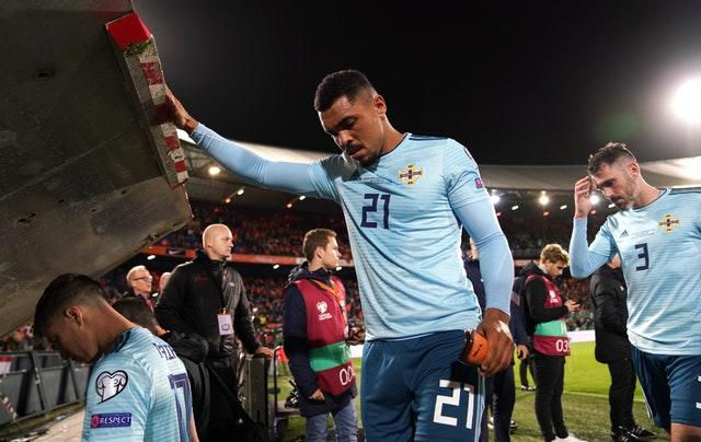 Josh Magennis fired Northern Ireland ahead but the night ended in defeat (John Walton/PA)