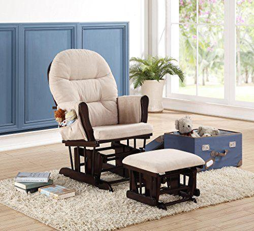 """<p><strong>Naomi Home</strong></p><p>walmart.com</p><p><strong>$229.99</strong></p><p><a href=""""https://go.redirectingat.com?id=74968X1596630&url=https%3A%2F%2Fwww.walmart.com%2Fip%2FGraco-Parker-Semi-Upholstered-Glider-and-Ottoman-White-with-Gray-Cushions%2F39664627%3FfindingMethod%3Dwpa&sref=https%3A%2F%2Fwww.goodhousekeeping.com%2Fchildrens-products%2Fg36815305%2Fbest-gliders%2F"""" rel=""""nofollow noopener"""" target=""""_blank"""" data-ylk=""""slk:Shop Now"""" class=""""link rapid-noclick-resp"""">Shop Now</a></p><p>This petite glider <strong>measures only 23 inches wide</strong>, making it the <strong>best chair for a tiny space</strong>. It also comes with a matching ottoman. <strong>This chair is more affordable than competitors</strong>, though some reviewers felt it wasn't the best quality or as sturdy as similar chairs. Still, it is a good option if you want a traditional feeling nursery chair but don't have much room or don't want to break the bank.</p>"""