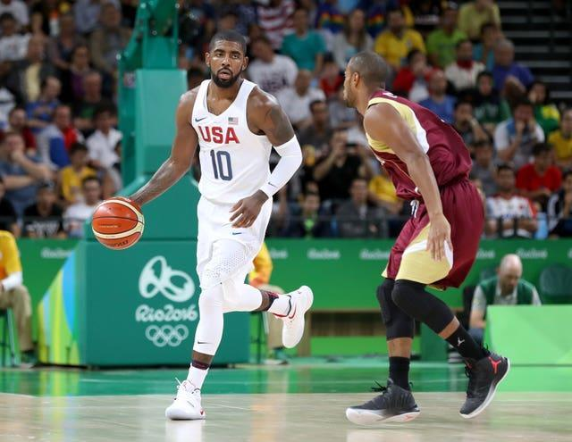 Kyrie Irving, left, won gold with the United States at the 2016 Olympic Games