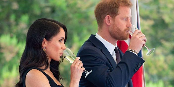 """<p>We know <a href=""""https://www.delish.com/food/g21944796/what-royals-eat-in-a-day/"""" rel=""""nofollow noopener"""" target=""""_blank"""" data-ylk=""""slk:what all the royals actually eat in a day"""" class=""""link rapid-noclick-resp"""">what all the royals actually eat in a day</a>, but how they do it is a bit more of a mystery. Besides the formal engagements we see all of them at, there are tons of super strict royal protocols around eating and food. Here are just a few of them.</p>"""