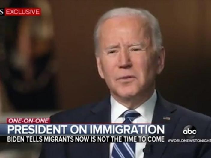 <p>US president Joe Biden in an interview with ABC on Tuesday</p> (ABC News)