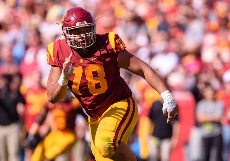 USC DL Jay Tufele is starting to flash star power. (Getty Images)