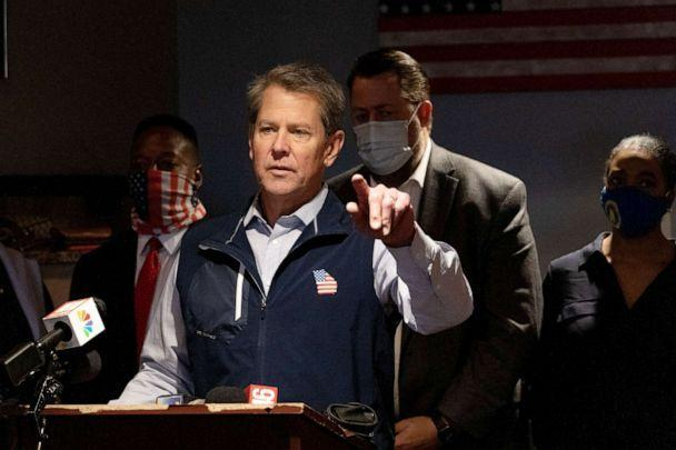 PHOTO: Georgia Gov. Brian Kemp speaks at a news conference in Marietta, Ga., April 10, 2021. (Megan Varner/Getty Images)