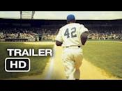"""<p>Portraying the life of Jackie Robinson, the first African American to play in Major League Baseball, Boseman stars in what many call his breakout movie alongside Harrison Ford who plays legendary Brooklyn Dodgers manager Branch Rickey.</p><p><a class=""""link rapid-noclick-resp"""" href=""""https://www.amazon.com/42-Chadwick-Boseman/dp/B00DYQ1TKM?tag=syn-yahoo-20&ascsubtag=%5Bartid%7C2139.g.35644632%5Bsrc%7Cyahoo-us"""" rel=""""nofollow noopener"""" target=""""_blank"""" data-ylk=""""slk:STREAM IT HERE"""">STREAM IT HERE</a></p><p><a href=""""https://youtu.be/GlaUzQgRKPI"""" rel=""""nofollow noopener"""" target=""""_blank"""" data-ylk=""""slk:See the original post on Youtube"""" class=""""link rapid-noclick-resp"""">See the original post on Youtube</a></p>"""
