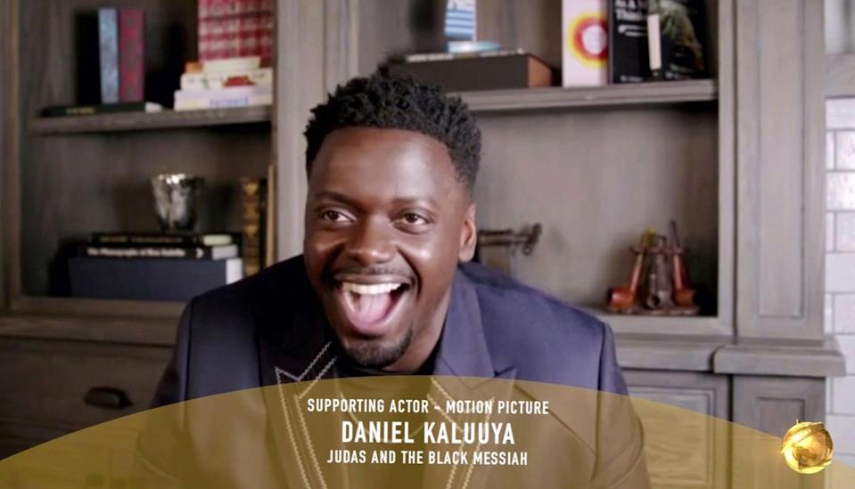 Kaluuya had a few technical difficulties during his speechAP
