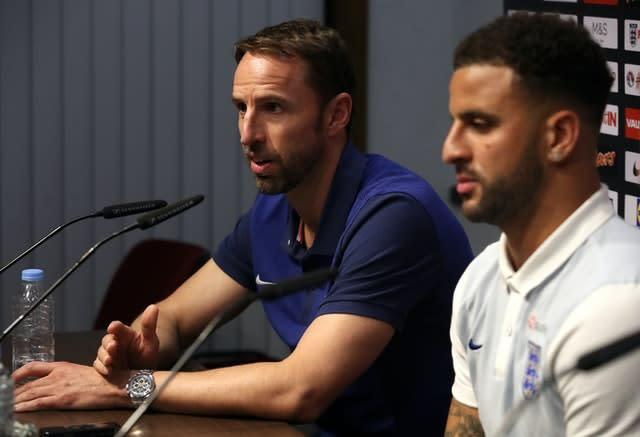 England manager Gareth Southgate has not picked Kyle Walker since last year. (Nick Potts/PA)