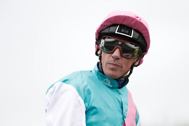 Horse Racing - Qatar Prix de l'Arc de Triomphe - Chantilly Racecourse, France - October 1, 2017 Frankie Dettori on Enable is pictured before the Qatar Prix de l'Arc de Triomphe (Group 1) REUTERS/Benoit Tessier