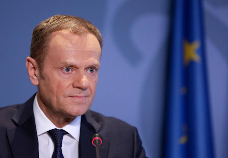 Tusk threat to 'freeze' Brexit talks until Irish get deal