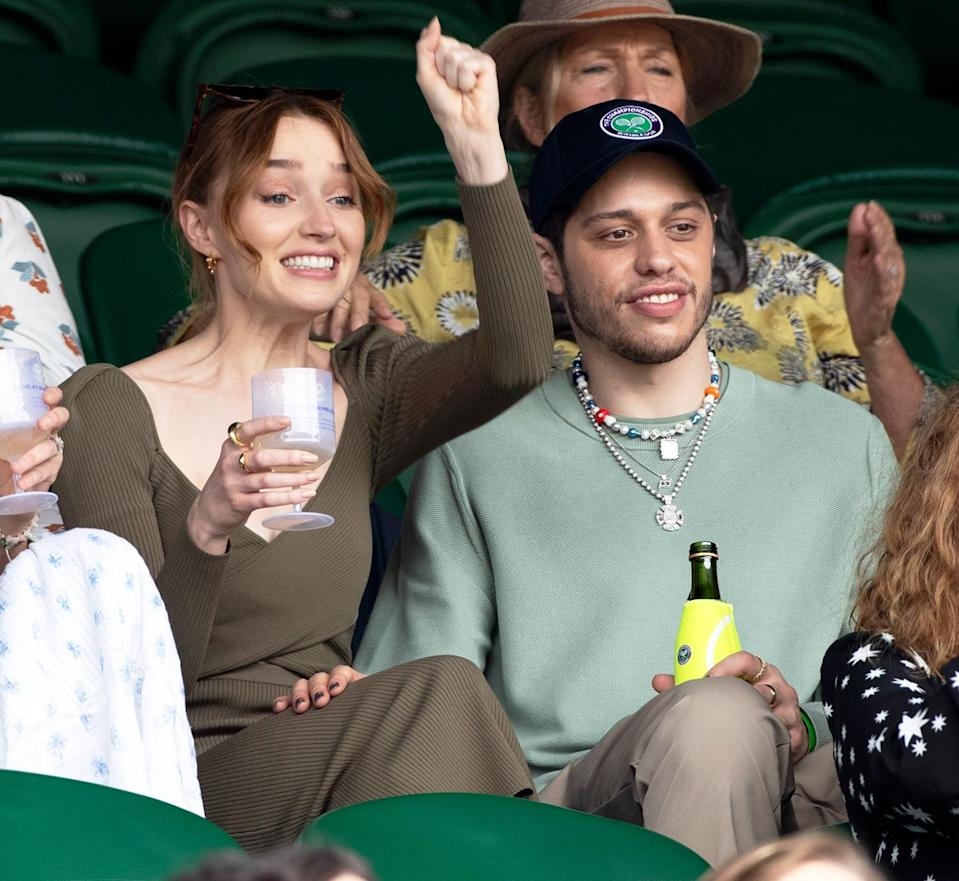 <p>Pete Davidson and Phoebe Dynevor make their first public outing as a couple cheering on Wimbledon.</p>