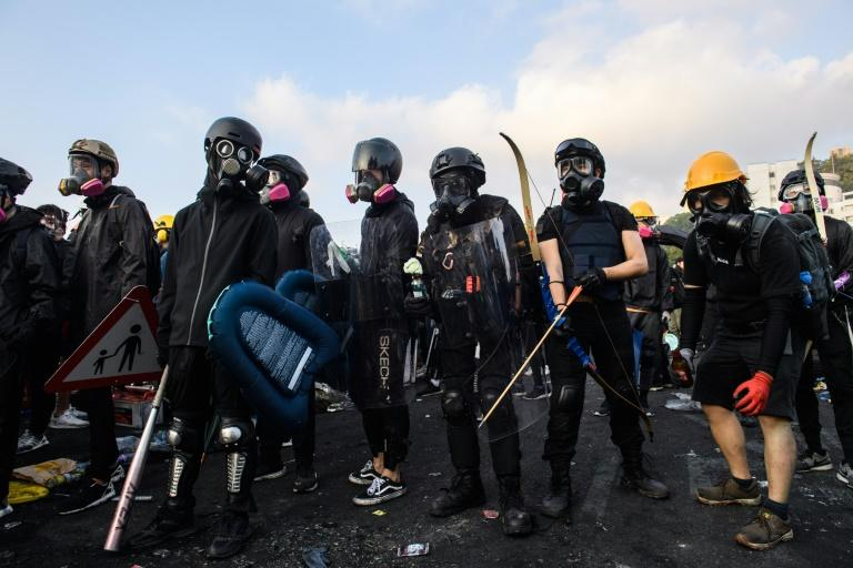 Demonstrators have been adapting their tactics (AFP Photo/Anthony WALLACE)