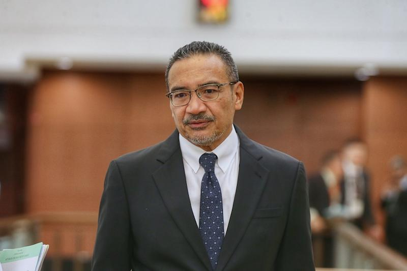 Datuk Seri Hishammuddin Hussein is pictured in Parliament October 8, 2019. — Picture by Ahmad Zamzahuri