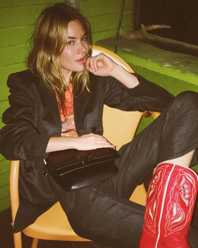 """French model Camille Rowe prefers a """"spontaneous solo dance party"""" to a trip to the gym. """"I always have music on at home and I'm always shaking a leg."""" But she also likes yoga and walking. """"I do yoga every morning. It's become like a meditation to me,"""" she says. """"I live on a hike so I'll go for walks once or twice a day. I love an activity!"""""""