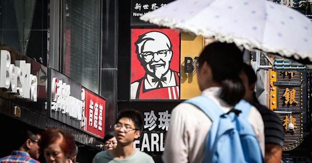 <p>Yum China Holdings<br> Industry: Food Services<br> Fortune 500 Rank: 399<br> Revenues: $6,752,000,000<br> (CNBC)<br>(Yum China has exclusive rights to operate the KFC brand in China) </p>