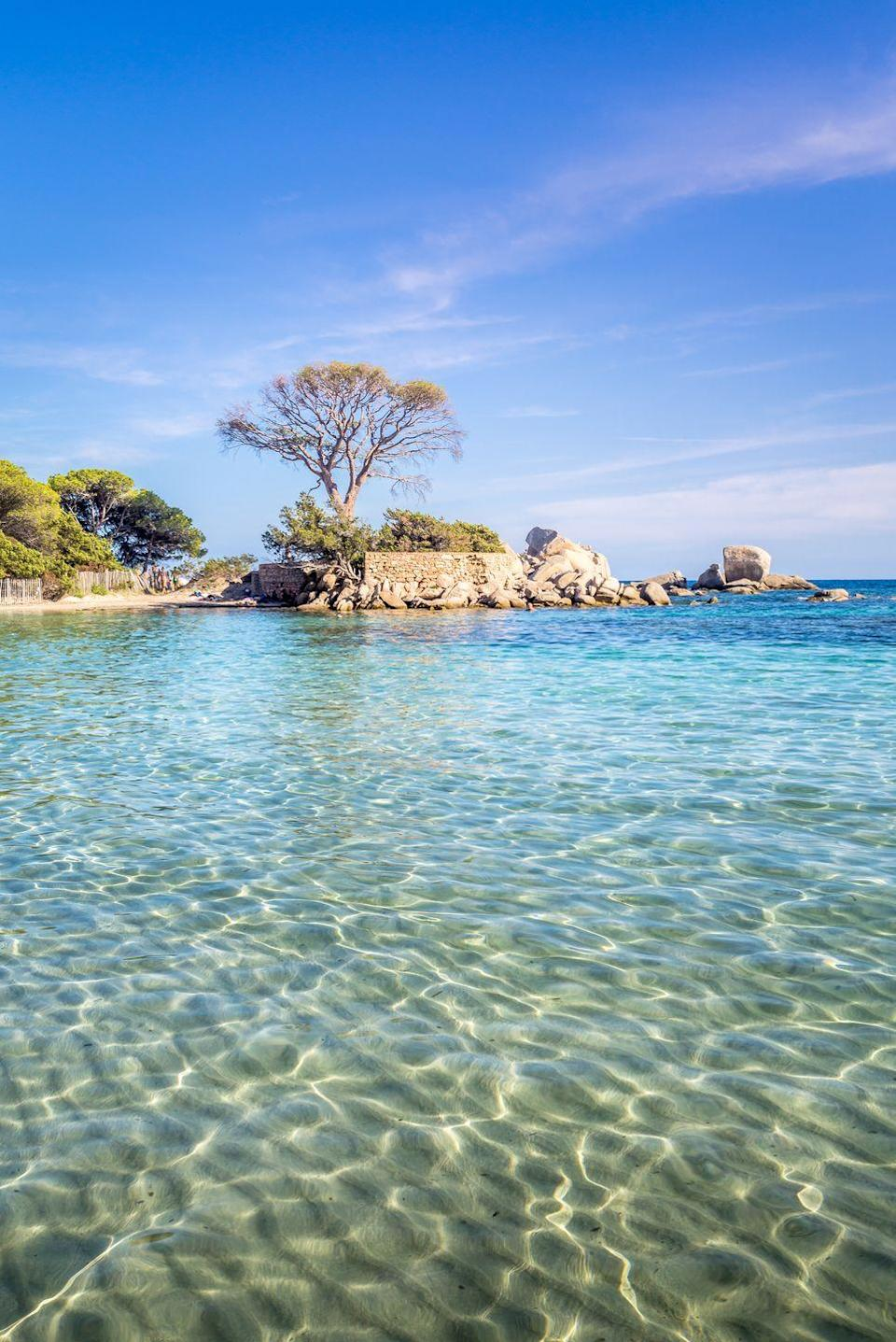 """<p>Geographically closer to Italy, this French island has a little bit of everything. According to <a href=""""https://www.cntraveller.com/article/travel-guide-corsica"""" rel=""""nofollow noopener"""" target=""""_blank"""" data-ylk=""""slk:CN Traveler"""" class=""""link rapid-noclick-resp"""">CN Traveler</a>, this is the island where Henry Matisse fell in love with color. Corsica is known for its amazing hiking trails in the lush, rugged nature reserve (cyclists, rejoice!), but for those who'd prefer to hang out at sea level, there's plenty to do, from snorkeling to sunning and swimming. So outdoor adventure-seekers will especially love it.</p>"""
