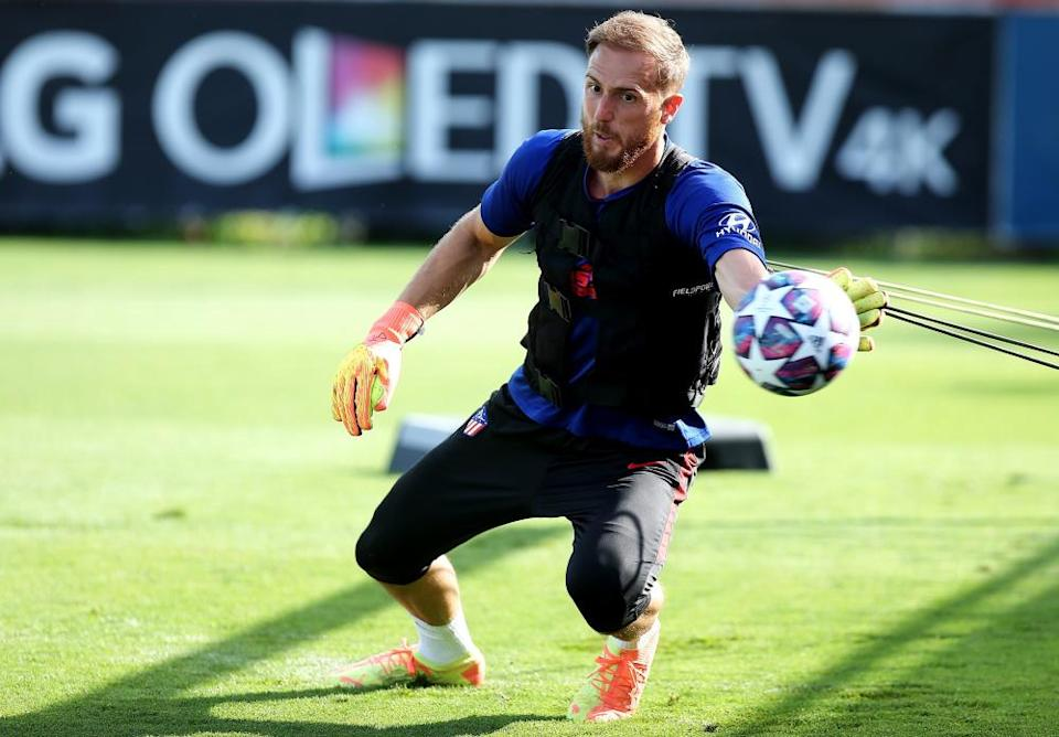 Jan Oblak during Atlético training.