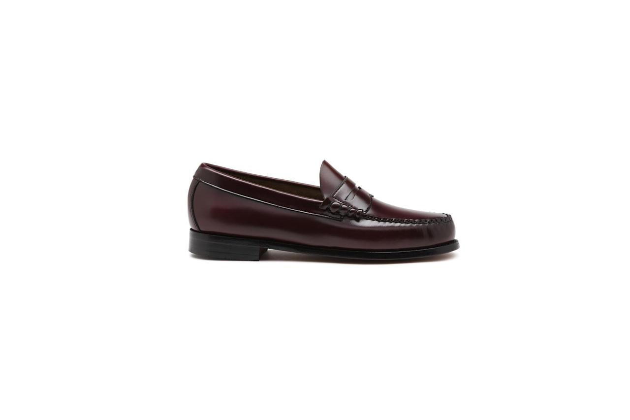 """<p>The right loafers can be dressed-up and dressed-down, worn with or without socks, and only look better once broken in. Weejuns are it.</p> <p><em>G.H. Bass & Co Weejuns loafers</em></p> $110, G.H. Bass & Co. <a href=""""https://www.ghbass.com/product/larson+weejuns.do?sortby=ourPicks&from=fn&selectedOption=205044"""">Get it now!</a>"""
