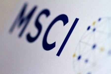FILE PHOTO: The MSCI logo is seen in this June 20, 2017 illustration photo.  REUTERS/Thomas White/Illustration/File Photo