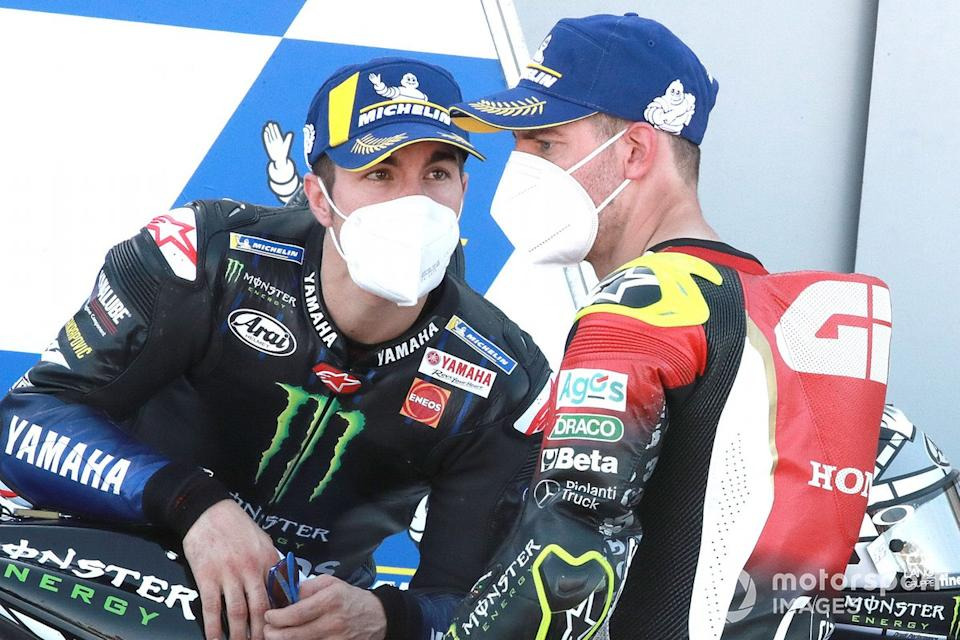"Maverick Viñales, Yamaha Factory Racing, Cal Crutchlow, Team LCR Honda <span class=""copyright"">Gold and Goose / Motorsport Images</span>"