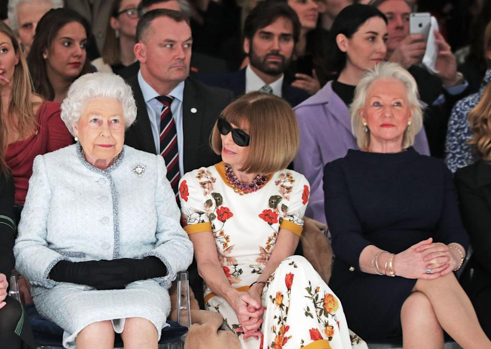 The Queen and Angela Kelly (right)