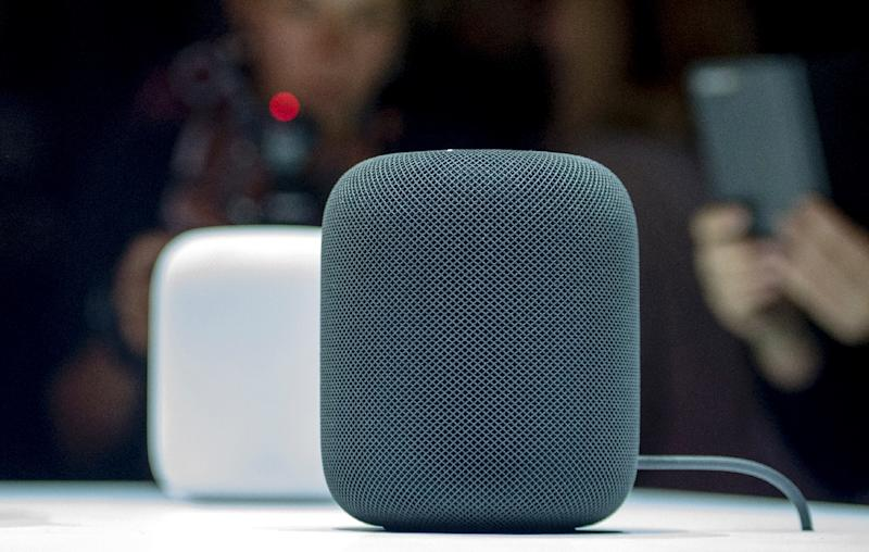 Apple's HomePod smart speaker enters a market segment dominated by Amazon and Google, but is being touted as a high-quality music device (AFP Photo/Josh Edelson)