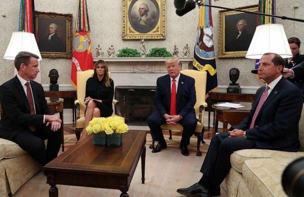 PHOTO: President Donald Trump speaks about banning non-tobacco flavored vaping products in the Oval Office, Sept. 11, 2019. (Leah Millis/Reuters)