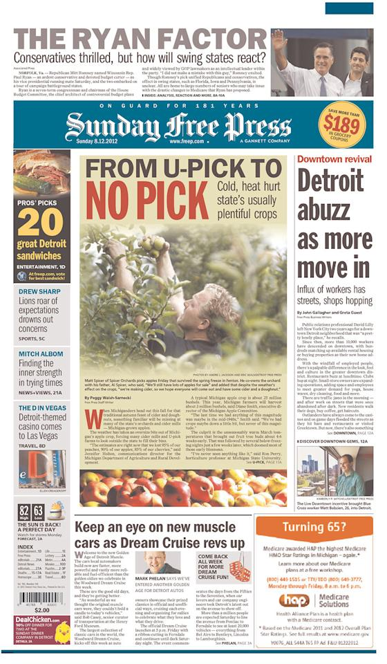 Detroit Free Press, Aug. 12, 2012