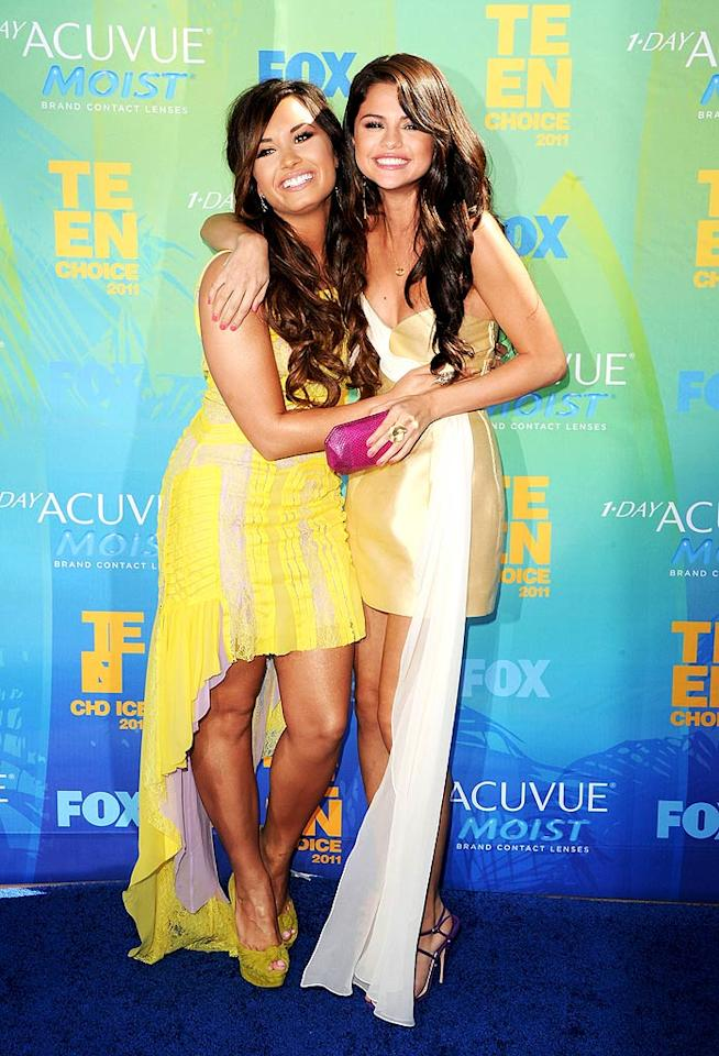 "It also looked like Selena was back to being BFFs with pal Demi Lovato! The two drifted apart when Demi dropped out of the spotlight last year to seek treatment for bulimia and other issues. She's now focusing on her music career and releasing a new album next month. Jason Merritt/<a href=""http://www.gettyimages.com/"" target=""new"">GettyImages.com</a> - August 7, 2011"