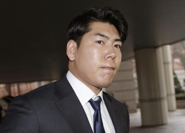 Jung-ho Kang will no longer drink alcohol after third DUI arrest. (AP Photo/Ahn Young-joon)