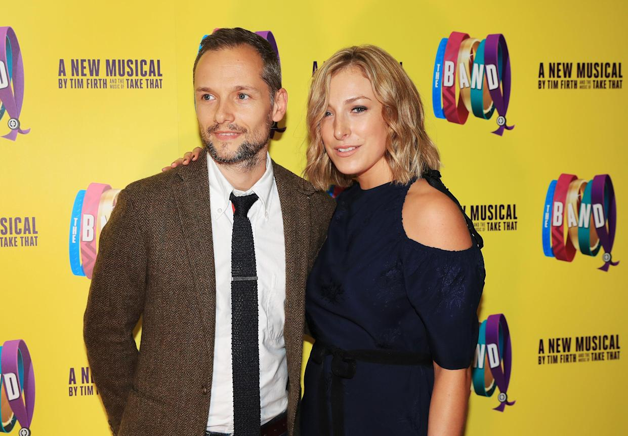 Director Jack Ryder and his wife Ella attending the press night of Take That's musical The Band at Manchester Opera House. (Photo by Peter Byrne/PA Images via Getty Images)