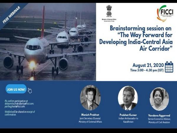 Webinar titled 'The Way Forward for Developing India-Central Asia Air Corridor', was organised by FICCI. (Photo credit: India in Kazakhstan twitter)